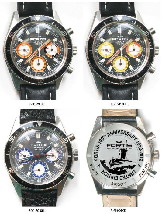 New Fortis 100th Anniversary Marinemaster Chronograph Retro Edition