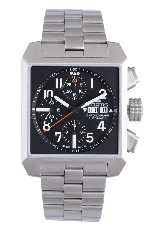 Fortis 667.10.41 M Men's Square Chronograph