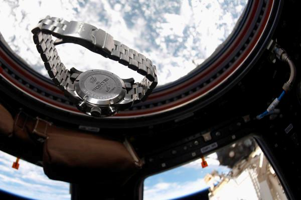 Fortis Space Watch Suspended in Weightlessness