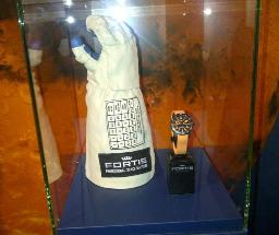 Actual glove from a Russian space suit - Fortis watch shown for scale