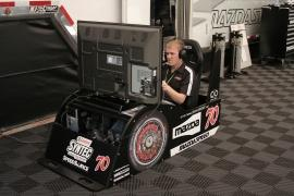 Josh Hurley Cutting his Learning Curve with his Sim-Sport Simulator to Re-Learn the Infamous and Fast Road Atlanta Track