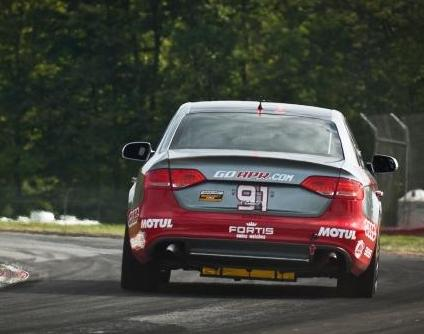 Josh Hurley and Fortis Watches Audi S4 at Mid-Ohio 2011