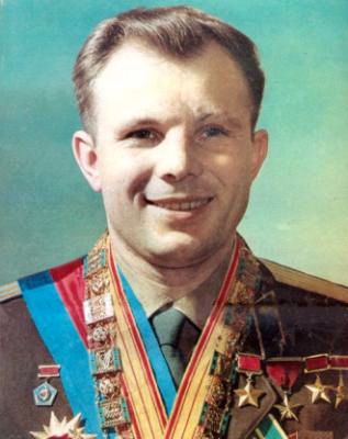 Russuan Space Hero Yuri Gagarin