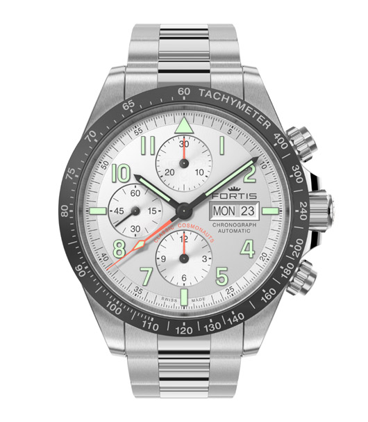 Fortis 401.26.12 Classic Cosmonauts Chronograph a.m. - Front View