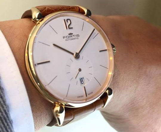 Fortis 18k gold timepieces from the new terrestis collection watch brands for Gold timepieces watch
