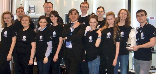 Members of the Federal Space Agency Roscomos Celebrate with Fortis Watches