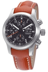 Fortis Mens 635.10.11.L.08 B-42 Pilot Professional Black Dial Chronograph Watch