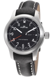 Fortis Mens 645.10.11.L.01 B-42 Pilot Professional Black Dial Watch