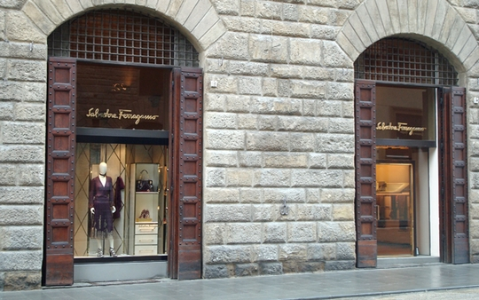 Ferragamo Boutique in Florence, Italy