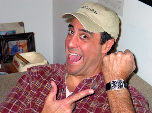 Brad Garrett of Everybody Loves Raymond Wearing a Watch from the Gevril Avenue of the Americas Collection