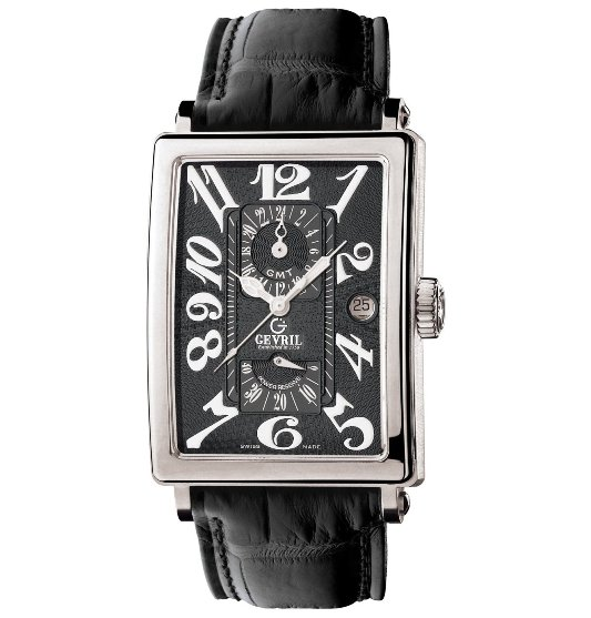 Gevril Men's 5022 Avenue of Americas Automatic GMT Watch - Front View