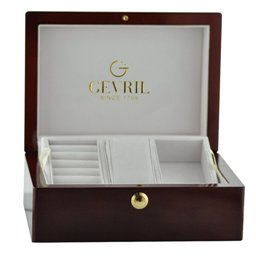 Gevril Mens 5110 Avenue of Americas Limited Edition Rose Gold Automatic Chronograph Watch - Gift Box