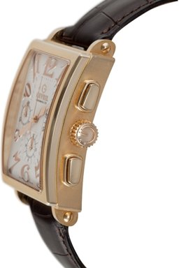 Gevril Mens 5110 Avenue of Americas Limited Edition Rose Gold Automatic Chronograph Watch - Side View
