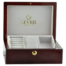 Gevril Ladies 6208RV Avenue of Americas Glamour Automatic Pink Diamond Watch - Gift Box