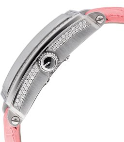 Gevril Ladies 6208RV Avenue of Americas Glamour Automatic Pink Diamond Watch - Side View
