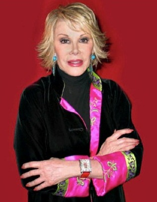 Joan Rivers, Wearing Her Gevril 'Glamour' Timepiece
