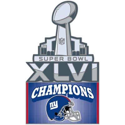 New York Giants Football Superbowl 46 Champs