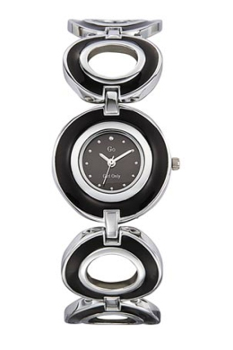 Go Girls 694070 Steel Round Case Black Ceramic Watch