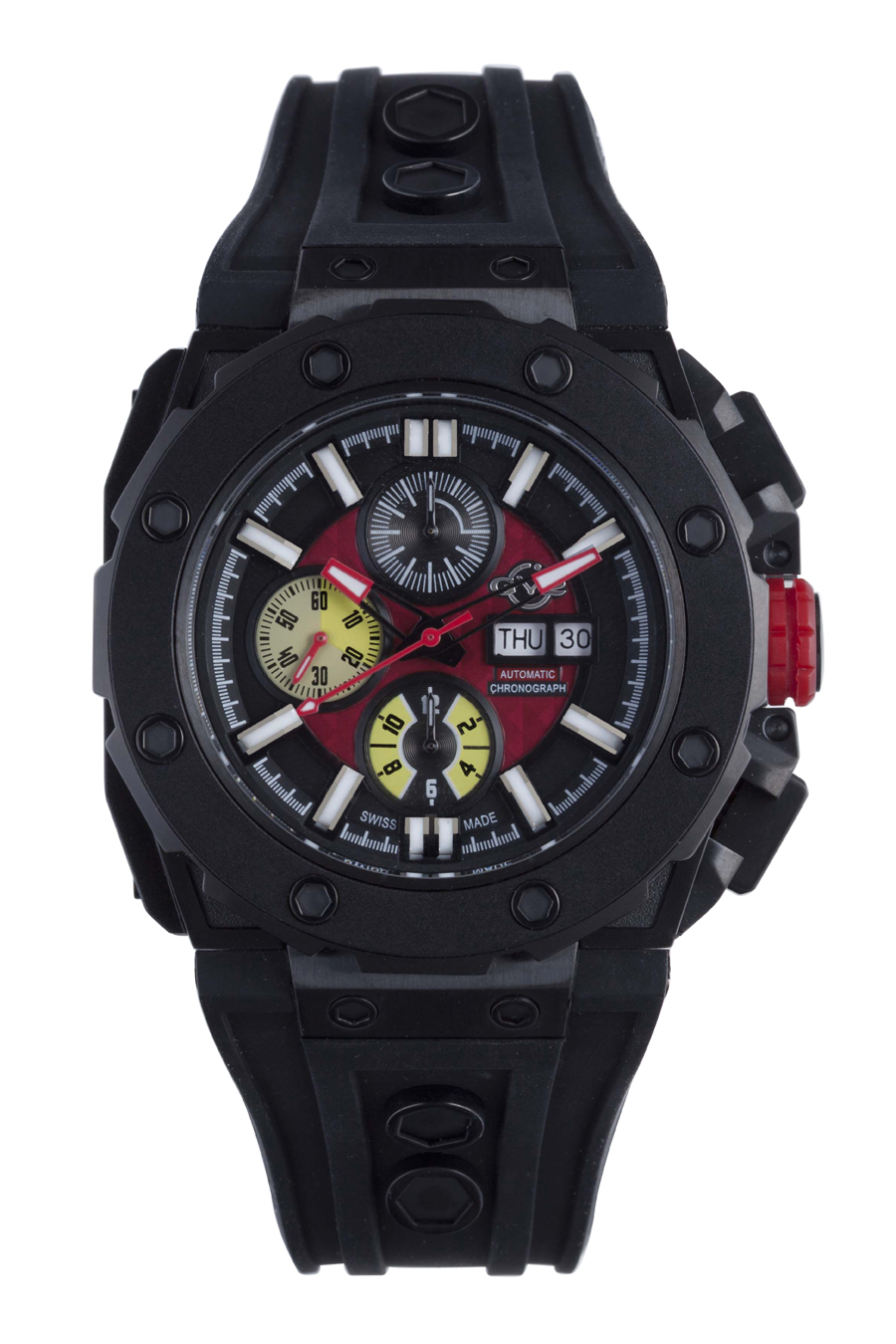 Gevril gv2 mens 8805 corsaro limited edition black dial automatic chronograph luxury watches for Gevril watches