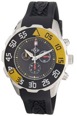 Gevril Mens 3000R GV2 Parachute Collection Black Dial Chronograph Watch