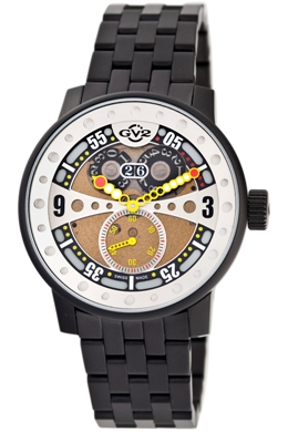 Gevril Mens 4041B GV2 Powerball Collection Big Date Gold Dial Watch