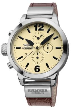 Haemmer Ladies DHC-12 Secrets Collection Yellow Dial Chronograph Watch