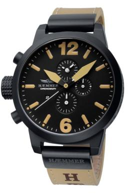 Haemmer Mens HC-23 Giants Collection Luminous Black Dial Chronograph Watch