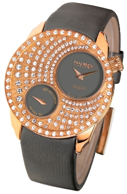 Haurex Ladies FH359DG1 Nabylia Swarovski Satin Gray Dial Watch