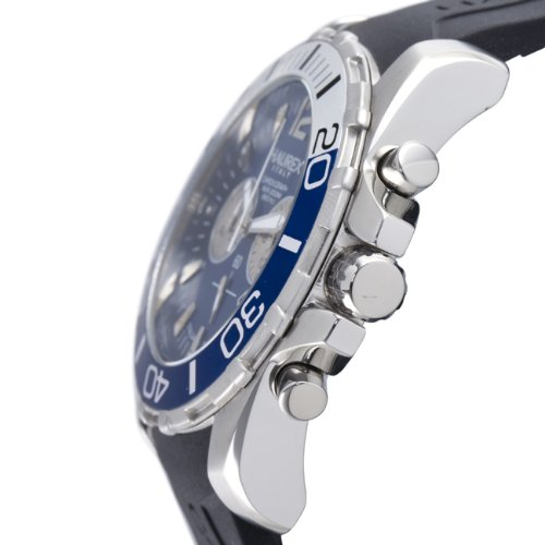 Haurex Mens 3A354UBB Caimano Chronograph Blue Dial Divers Watch - Side View