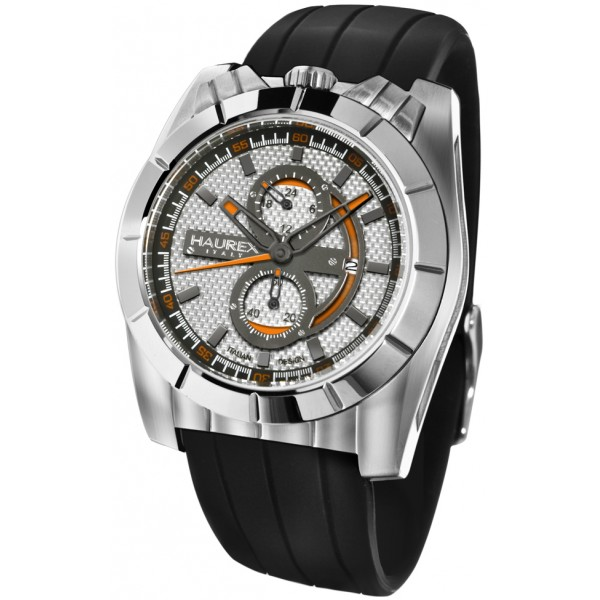 Haurex Mens 3A362USO Orange Fashion Watch - Front View