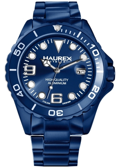 Haurex Mens 7K374UB3 INK Collection Blue Aluminum PVD Sports Watch