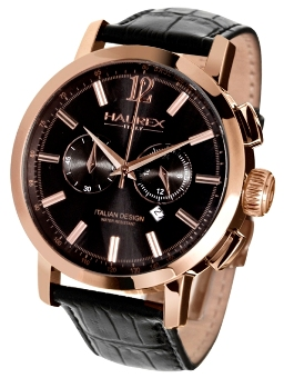 Haurex Mens 9R330UGH Maestro  Black Dial Chronograph Watch