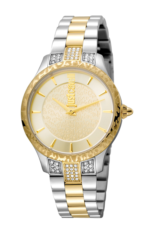 Just Cavalli JC1L004M0075 Animal Chantilly Women's 34mm