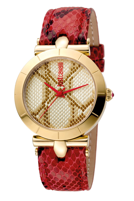 Just Cavalli JC1L005L0035 Animal Devore Women's 34mm