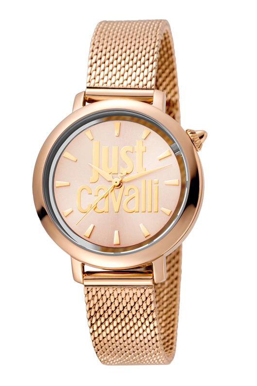 Just Cavalli JC1L007M0075 Logo Mesh Women's 34mm