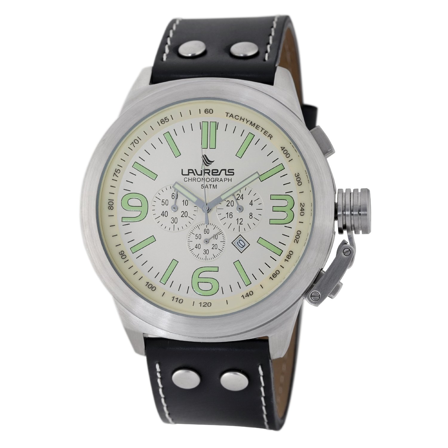 Laurens Mens 025909BB Instinct Chronograph Watch