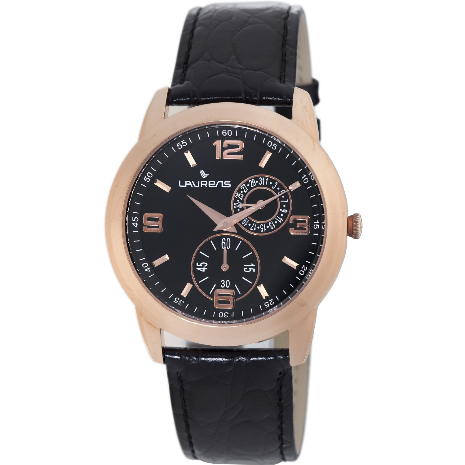 Laurens Mens 026390AA Authentic Rose Gold Tone Watch