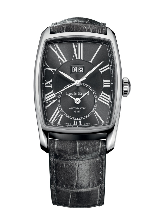 Louis Erard Mens 94210AA23.BDC54 Tonneau GMT Watch