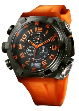 Offshore Limited Mens OFF001D Force 4 Collection Dual Time Chronograph Watch