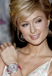 Paris Hilton Wearing Watch