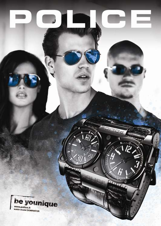 POLICE Creates DOMINATOR Mens Fashion Watch Advertising Copy