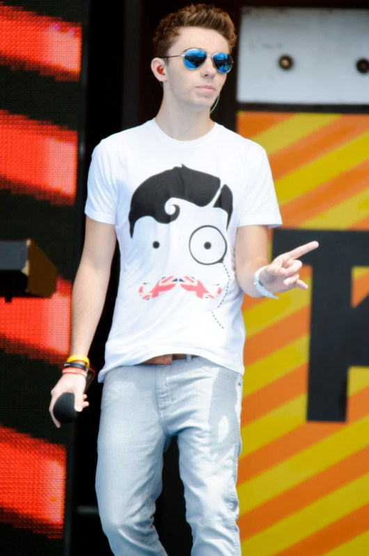 Nathan Sykes of The Wanted Wearing Police Cyber Watch
