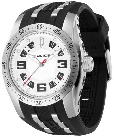 POLICE Mens PL.12892JS/04 Topgear White Dial Fashion Watch