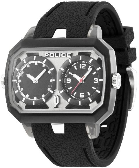 POLICE Mens PL.13076JPB-02A Hydra Dual Time Fashion Watch
