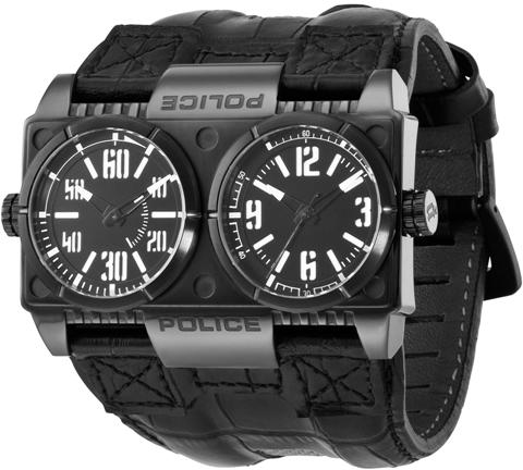 police watches men s watches police mens pl 12899xsb 02 dominator dual faces black dial fashion watch