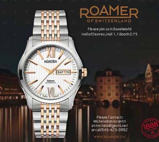 Roamer of Switzerland Watches at BASELWORLD 2011 - March 24-31, Hall of Desires 1.1, Booth D75