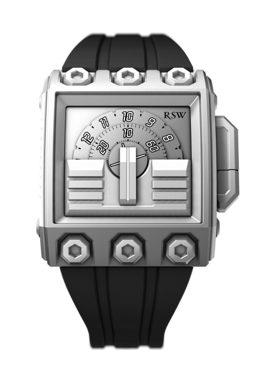RSW Mens 7120.MS.R1.5.00 Outland Grey IP Stainless Steel Automatic Watch
