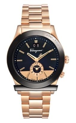 Ferragamo Mens F62LDT5219 S080 1898 Dual Time Watch
