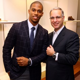 New York Giants Wide Receiver Victor Cruz and Paul Ziff Attend the Ferragamo and GQ Event to Support MSKCC