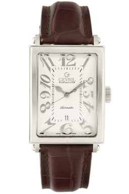 Gevril Mens 5000A Avenue of Americas Swiss-Made Quartz Watch